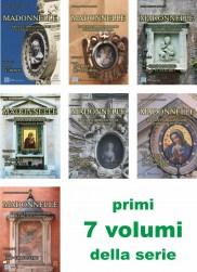 Copertine dei primi 7 volumi della serie di libri su Roma 'MADONNELLE' (i volumi successivi sono in elaborazione)