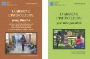 Copertine dei primi 2 volumi della serie di libri 'La Musica e l'Intercultura'