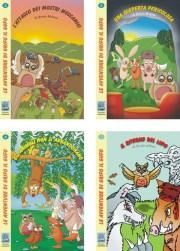 Copertine dei 4 volumetti della serie di libri per bambini 'Le avventure di Grifo il Gufo'