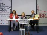 I relatori della presentazione di 'Le facciate parlanti - Vol.I' a Roma si libra