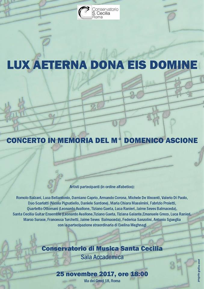 locandina concerto in memoria di ascione