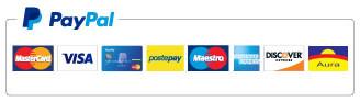 Sul sito di MMC Edizioni puoi pagare i tuoi acquisti con conto PayPal o Carta di Credito